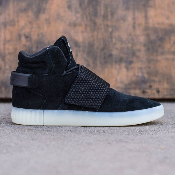 ⚫️ADIDAS MEN TUBULAR INVADER STRAP 10.5 BLACK⚪️ 224181702